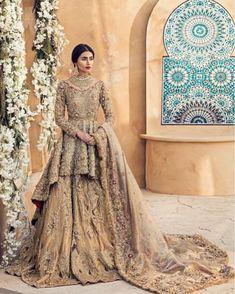 "Pakistani fashion on Pakistani fashion ""Zara Peerzada in a breathtaking ensemble from Suffuse by Sana Yasir… "" Asian Bridal Dresses, Asian Wedding Dress, Pakistani Wedding Outfits, Indian Bridal Outfits, Pakistani Bridal Dresses, Pakistani Wedding Dresses, Walima Dress, Pakistani Bridal Couture, Pakistani Clothing"