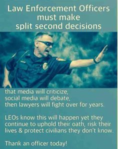 So very true.  It is so nice to have the luxury to review the tape and to sit in a comfy chair to criticize the officer who had to make the life and death decision in the blink of an eye.
