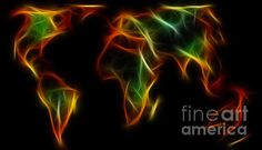#WORLD #IMPRESSIONS  #Abstract #World #Art #Earth Quality Prints and Cards at:  http://kaye-menner.artistwebsites.com/featured/world-impressions-abstract-world-kaye-menner.html  -