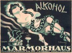 By Josef Fenneker (1895-1956), 1920, Alkohol, Marmorhaus movie palace. (G)