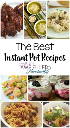 """Do you have an Instant Pot or want one? Join us as we share """"The Best Instant Pot Recipes."""" via @AFHomemaker"""