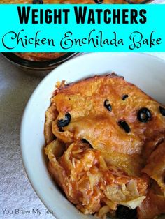 Make this Enchilada Bake that is super easy and delicious with only 6 SmartPoints on Weight Watchers! A perfect slow cooker or freezer meal!