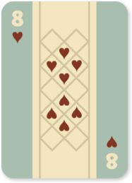 NATIVE CARDS, 8, playing cards, native american, indian, typography, graphic design, sean voegeli