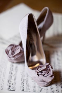 Lilac/Lavender/Purple Heels with Roses