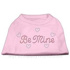 Mirage Pet Products 10-Inch Be Mine Rhinestone Print Shirt for Pets, Small, Light Pink