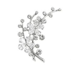 Glamorousky Dazzling Flower Brooch with Silver Austrian Element Crystal and CZ (3310) -- Hurry! Check out this great item : trend jewelry 2016