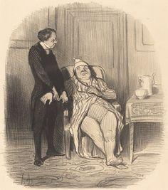Ah! docteur... je crois... que j'suis poitrinaire! | Honoré Daumier, Ah! docteur... je crois... que j'suis poitrinaire! (1847)