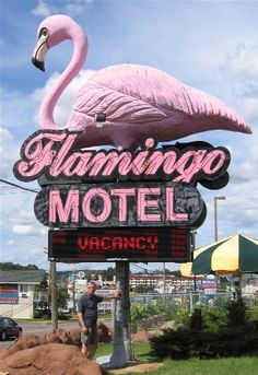 flamingo motel- wisconsin dells.. Haha this is where we stayed when we were 18!!