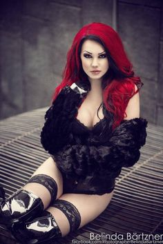 Model: Starfucked Photographer: Belinda Bartzner - Photography Latex corset: House of Harlot Goth Beauty, Dark Beauty, Chica Dark, Rockabilly, Fiery Redhead, Grunge, Gothic Girls, Gothic 4, Gothic Vampire