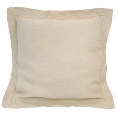 Cuscino in lino pesante naturale