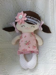 My friend Pippa--a handmade cloth doll  www.dandelionwishesmimi.etsy.com  www.facebook.com/dandelionwishesbymimi