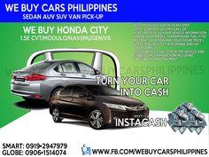 WE BUY USED HONDA CITY PHILIPPINES City 1.5 E MTPHP  City 1.5 E CVTPHP City 1.5 E CVT Special Edition City 1.5 E CVT Modulo Utility City 1.5 VX Navi CVTPHP 898,000.00 City 1.5 VX Navi CVT Modulo Aero Sports City 1.5 VX Navi CVT MUGEN City 1.5 VX+ Navi CVT  Contact numbers: SMART: 0919-294-7979 GLOBE: 0927-956-2590 / 0906-151-4074