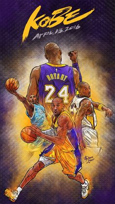 Kobe Bryant Retirement Game Illustration