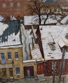 Kaunas. Houses at Daukanto street. - Mstislav Dobuzhinsky