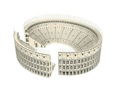 Colosseum  Roman architecture paper model  craft by PaperLandmarks