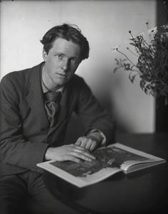 """Rupert Brooke (1887–1915) was an English poet known for his idealistic war sonnets written during the First World War, especially """"The Soldier""""."""