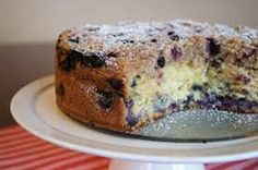 Blueberry Cake with Almond Streusel