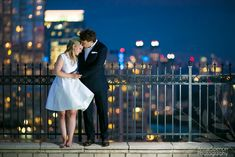 Atlanta night skyline engagement