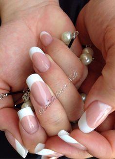 #acrilic #nails #refill #passion #french #simple #natural #white #bianco #unghie #gerdzhikova_neli