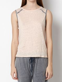 Hoss - camiseta de lino detalle metalizado