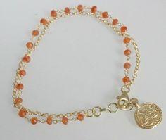 Carnelian / Vermeil (925) Amulet Bracelet