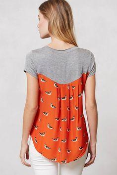 Vokuhila T-Shirt mit interessantem Rücken selber machen
