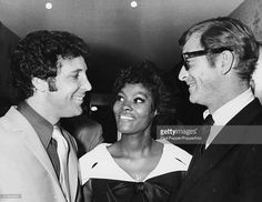 English actor Michael Caine (right) and American singer Dionne Warwick…