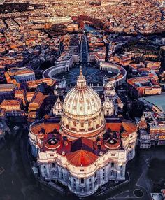Rome Saint Peter's Basilica bird's eye view