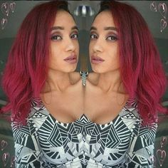 The #stunning  @teaze_anne put #HotHotPink over her copper-brown hair!