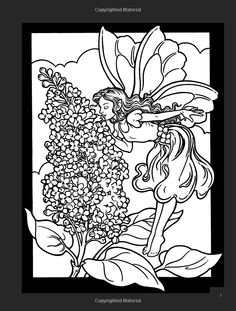 Garden Fairies Stained Glass Coloring Book (Dover Stained Glass Coloring Book): Darcy May: 9780486423883: Amazon.com: Books