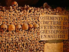 Catacombs, Paris, France: Empire of death - this is how the catacombs are called on the granite plate hung on the entrance. The catacombs are connected with the history of Paris: stones for construction of Paris Catacombs Tour, The Catacombs, French Catacombs, Paris Travel, France Travel, Travel Europe, Travel Destinations, Paris Ville, Haunted Places