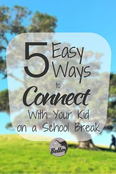 How to Connect With Your Kid on a School Break - With holiday breaks coming, many parents are wondering what to do with their kid. Wouldnt it be nice to actually connect with your kid during that time? Kids And Parenting, Parenting Hacks, Holiday Break, Kids Behavior, Family Values, Back To School Shopping, Emotional Intelligence, Raising Kids, Social Skills