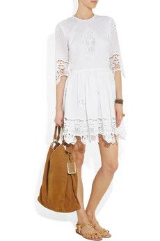 Salisa broderie anglaise cotton dress