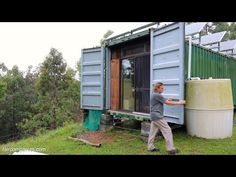 Aussie couple builds off-grid mobile home with 2 containers