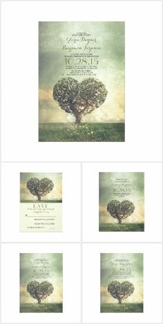 Rustic Heart Shape Tree Wedding Collection