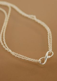 Infinity Necklace doubled by TeriLeeJewelry on Etsy, $38.00
