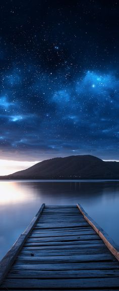 ~~The Crab ~ named after a favorite purple nebula, starry night seascape, Queens Lake, Australia by Timothy Poulton~~