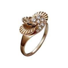 Paris Nouvelle Vague ring, small model - Pink gold, diamonds - Fine Rings for women - Cartier