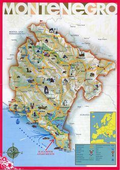 Montenegro tourist Map • mappery