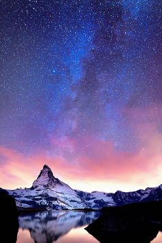 Beautiful Landscapes Photo: A starry sky Beautiful Sky, Beautiful Landscapes, Beautiful World, Beautiful Places, Landscape Photography, Nature Photography, Sky Full Of Stars, Belle Photo, Night Skies
