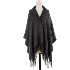 Madewell Wraparound Cape Scarf (82 CAD) ❤ liked on Polyvore featuring accessories, scarves, grey, jackets, lotr, women, gray scarves, madewell, wrap shawl and gray shawl