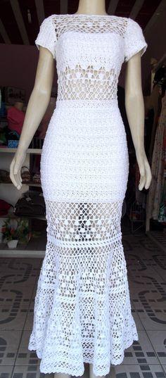 £: vestido de crochê cancum