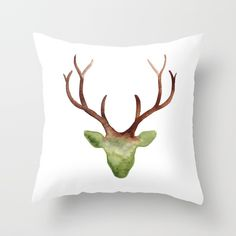 Buy Ombre Antlers Throw Pillow by susanbrand. Worldwide shipping available at Society6.com. Just one of millions of high quality products available.