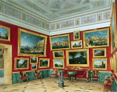 Interiors Of The New Hermitage. The Room Of Italian Art