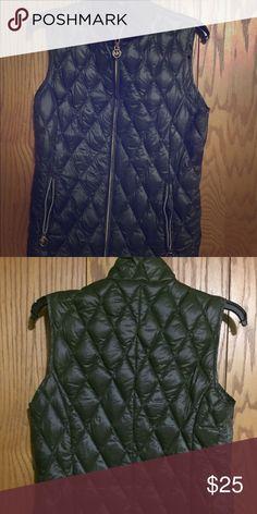 Michael Kors olive vest Like new. Super comfy fall vest. MICHAEL Michael Kors Jackets & Coats Vests