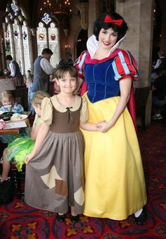 Snow White with Little Poor Snow White- POINTS FOR BEING TAKEN AT CINDERELLA'S ROYAL TABLE.