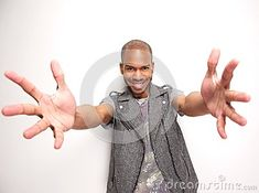Buy Smiling man with arms outstretched and hands open by mimagephotography on PhotoDune. Portrait of a smiling man with arms outstretched and hands open Hand Reference, Pose Reference, Smiling Man, Art Prompts, Dynamic Poses, Open Arms, Character Design, Hands, Stock Photos