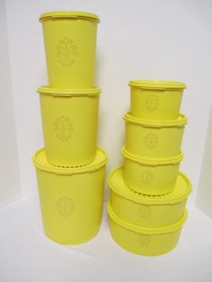 A personal favorite from my Etsy shop https://www.etsy.com/listing/222344442/tupperware-set-of-8-vintage-lemon-yellow