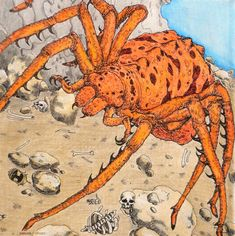 Beasts of Tolkien - Spider Coloured with Derwent Coloursoft