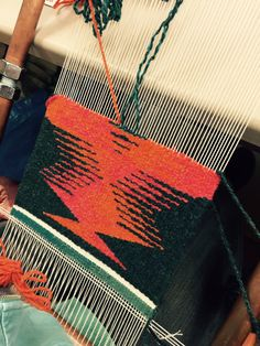 Kristin M's gorgeous weaving in Rebecca Mezoff's Color Gradation Techniques course in Minneapolis in 2016.
